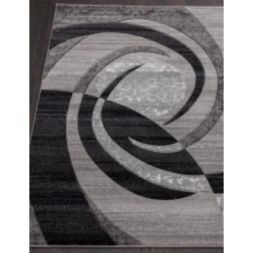 Ковер «Mega carving» d 264-gray-oval