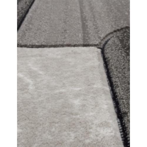 Ковер «Mega carving» d 465-light-gray
