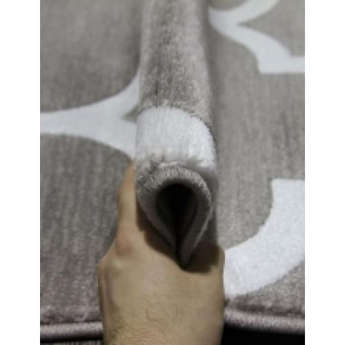 Ковер «Mega carving» w k-d422-gray-na tural-